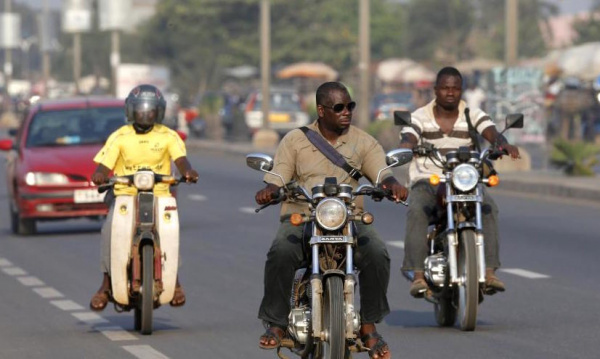 Togo : Motorcyclists need to only pay CFA5000 now to get a license