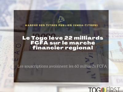 le-togo-leve-22-milliards-fcfa-sur-le-marche-financier-regional