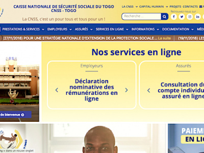 togo-la-caisse-nationale-de-securite-sociale-renove-son-portail-web-et-digitalise-ses-prestations