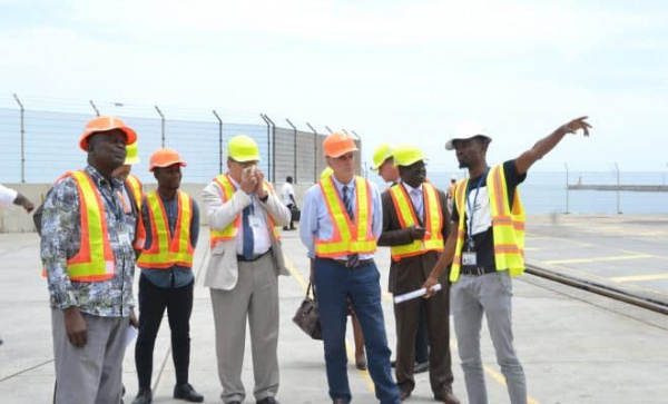 A delegation from France's port industry recently visited the Port of Loméa, finds its terminals impressive