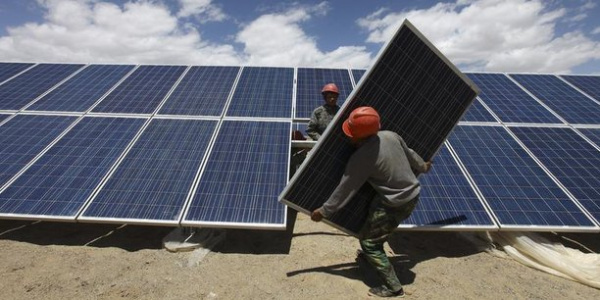Works at the Blitta solar power project completed