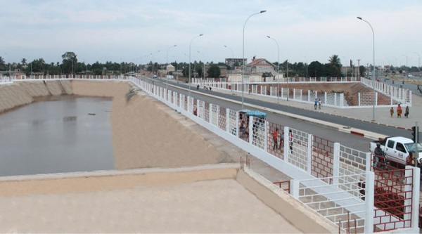 Some water retention basins will be connected in Lomé, under the PIDU