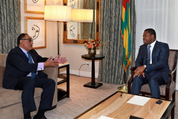 Faure Gnassingbé recently met with Hafez Ghanem to disccuss his country's priorities under its partnership with the World Bank
